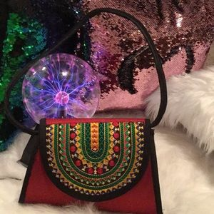 World Market Boho Bag Eclectic colorful structure